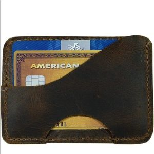 Hide & Drink Saddle Leather Double Sided Card Case